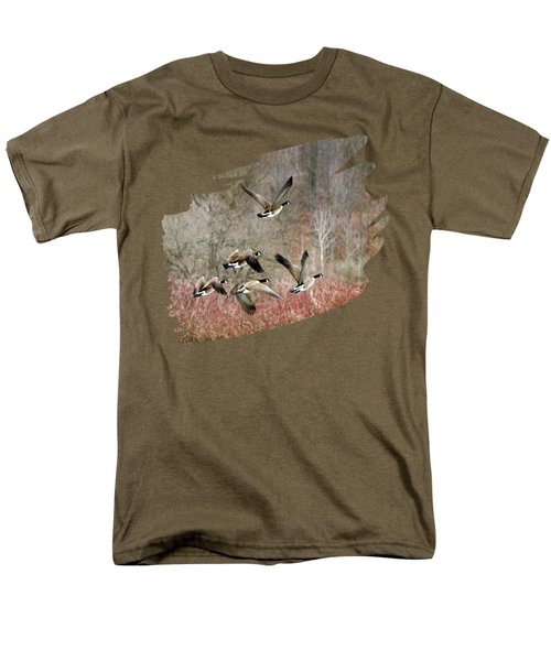 Canada Geese In Flight Men's T-Shirt  (Regular Fit) by Christina Rollo