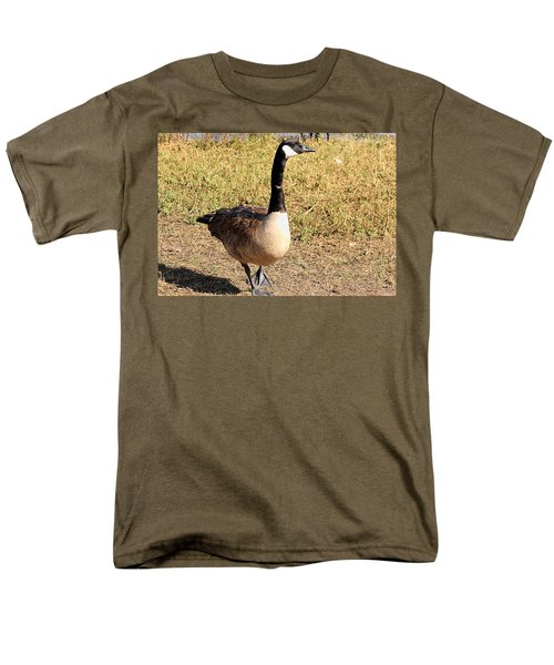 Canada Goose On A Stroll Men's T-Shirt  (Regular Fit) by Sheila Brown