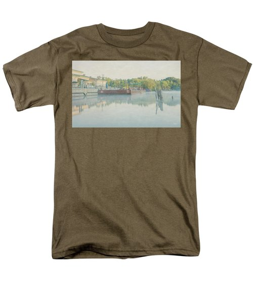 Men's T-Shirt  (Regular Fit) featuring the photograph Canal In Pastels by Everet Regal