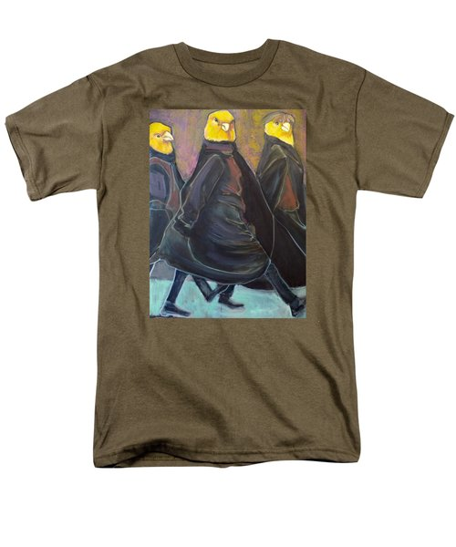 Men's T-Shirt  (Regular Fit) featuring the painting Canaries On Parade by Irena Mohr