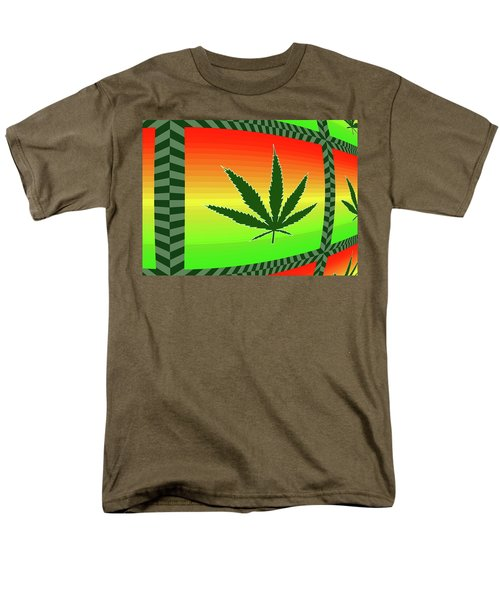 Men's T-Shirt  (Regular Fit) featuring the mixed media Cannabis  by Dan Sproul