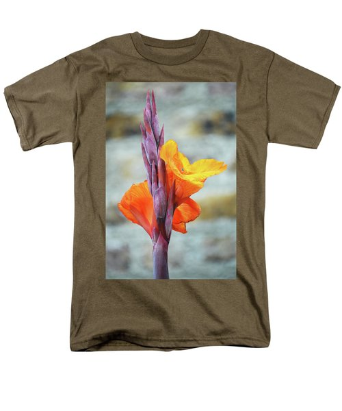 Men's T-Shirt  (Regular Fit) featuring the photograph Cannas by Terence Davis