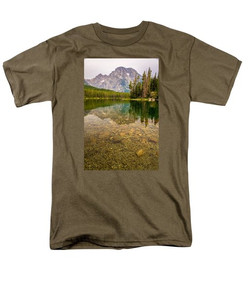 Men's T-Shirt  (Regular Fit) featuring the photograph Canoe Camping In The Teton Range by Serge Skiba