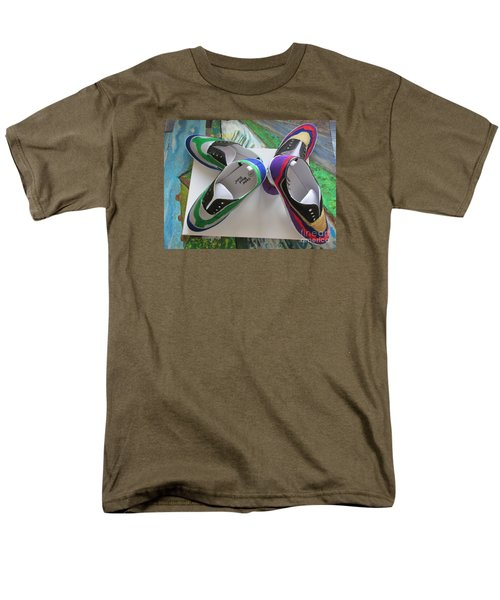 Men's T-Shirt  (Regular Fit) featuring the painting Canvas Shoe Art  - 006 by Mudiama Kammoh
