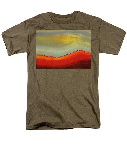 Canyon Outlandish Original Painting Men's T-Shirt  (Regular Fit) by Sol Luckman