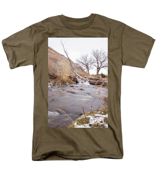 Canyon Stream Falls Men's T-Shirt  (Regular Fit) by Ricky Dean