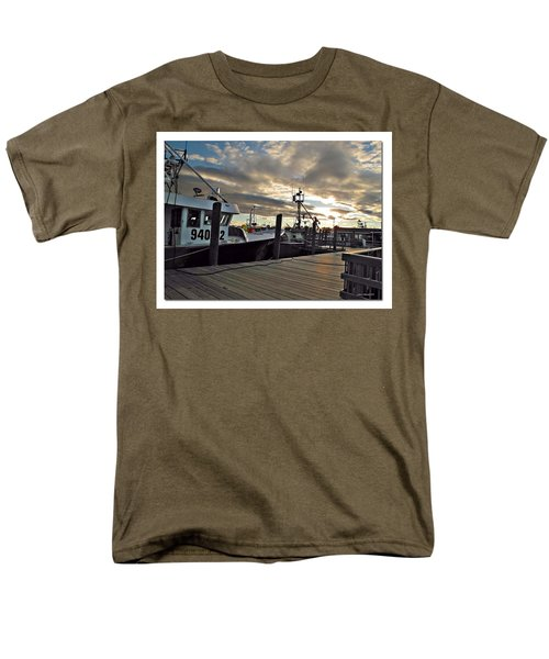 Men's T-Shirt  (Regular Fit) featuring the photograph Cape Cod Harbor by Joan  Minchak