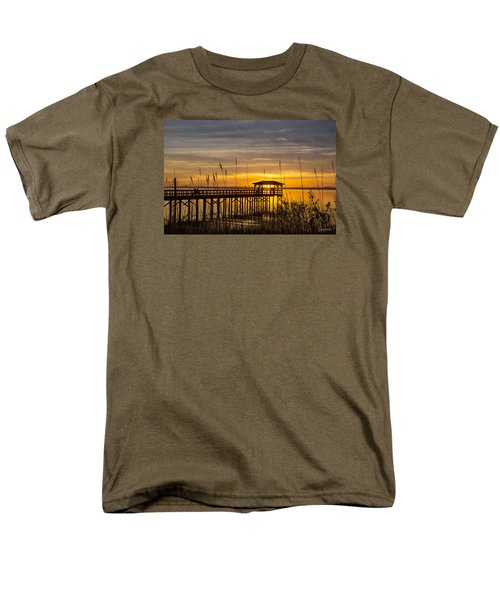 Cape Fear Sunset Fort Fisher Men's T-Shirt  (Regular Fit) by Phil Mancuso