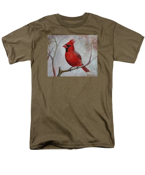 Men's T-Shirt  (Regular Fit) featuring the painting Cardinal by Elena Oleniuc