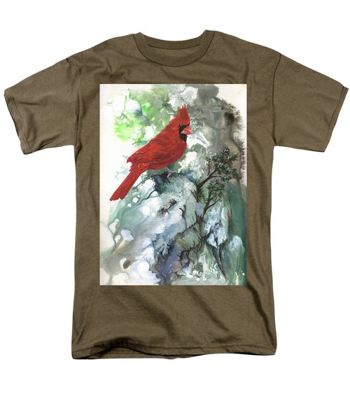 Men's T-Shirt  (Regular Fit) featuring the painting Cardinal by Sherry Shipley