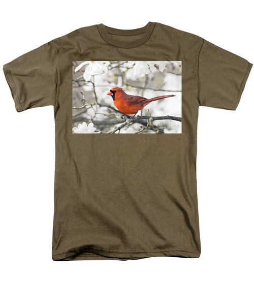 Men's T-Shirt  (Regular Fit) featuring the photograph Cardinal Spring - D009909-a by Daniel Dempster