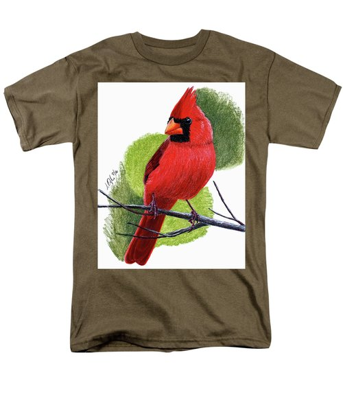 Men's T-Shirt  (Regular Fit) featuring the painting Cardinal1 by Joseph Ogle