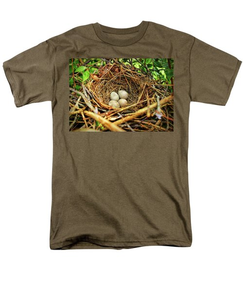 Brown Thrasher Nest And Eggs Men's T-Shirt  (Regular Fit) by Bellesouth Studio