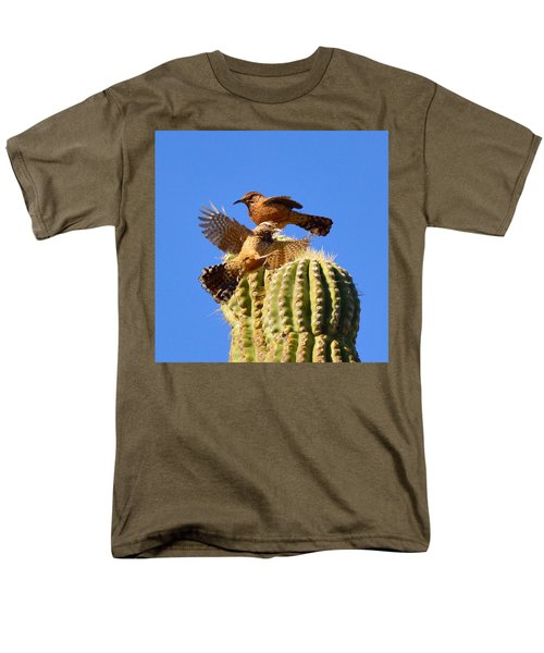 Men's T-Shirt  (Regular Fit) featuring the photograph Careful Landing by Marilyn Smith