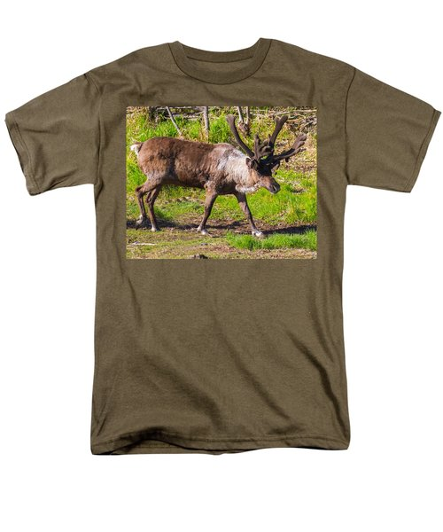 Caribou Antlers In Velvet Men's T-Shirt  (Regular Fit) by Allan Levin