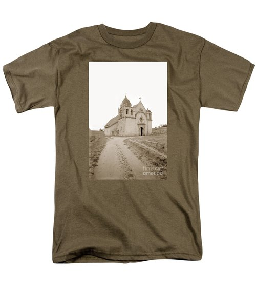 Carmel Mission South Side Circa 1915 Men's T-Shirt  (Regular Fit) by California Views Mr Pat Hathaway Archives