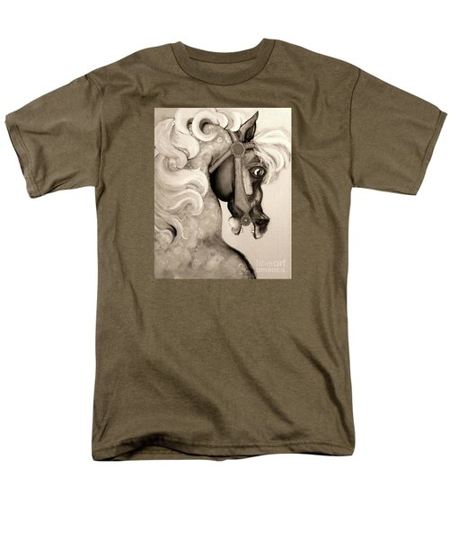 Men's T-Shirt  (Regular Fit) featuring the mixed media Carousel by Carolyn Weltman