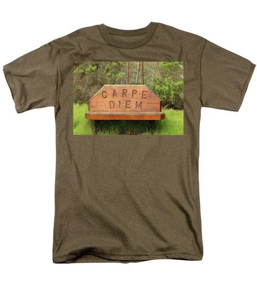 Men's T-Shirt  (Regular Fit) featuring the photograph Carpe Diem Bench by Art Block Collections