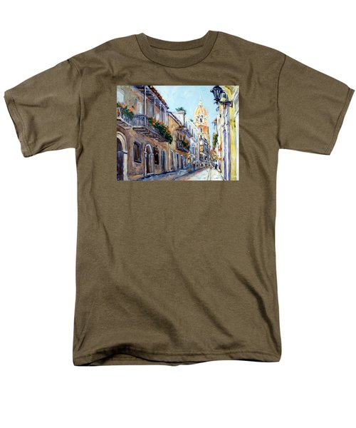 Cartagena Colombia Men's T-Shirt  (Regular Fit) by Alexandra Maria Ethlyn Cheshire