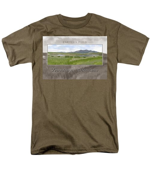 Men's T-Shirt  (Regular Fit) featuring the digital art Carter's Pond by Susan Kinney