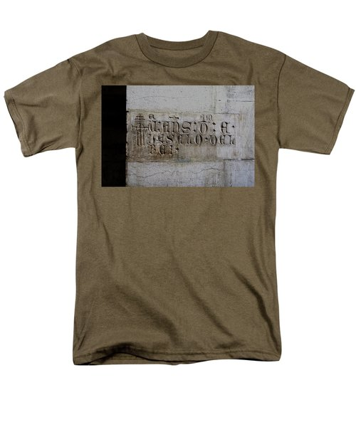 Men's T-Shirt  (Regular Fit) featuring the photograph Carved In Stone by Lorraine Devon Wilke