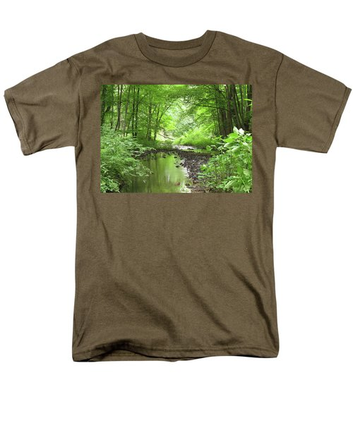 Carver Creek Men's T-Shirt  (Regular Fit) by Kimberly Mackowski