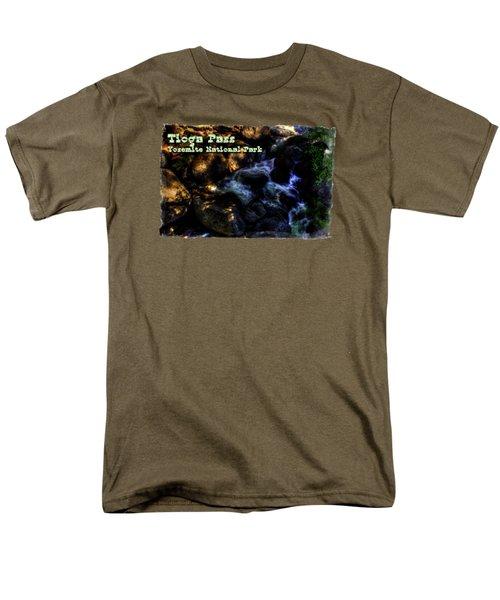 Cascade Along The Tioga Pass Yosemite Men's T-Shirt  (Regular Fit) by Roger Passman