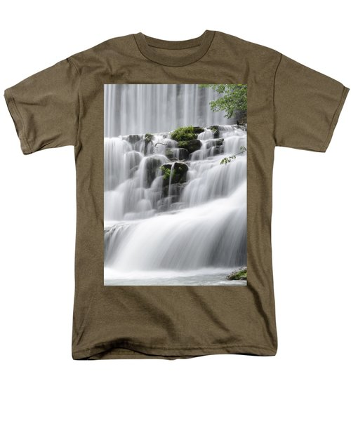 Men's T-Shirt  (Regular Fit) featuring the photograph Cascading Mirror Lake Falls by Renee Hardison
