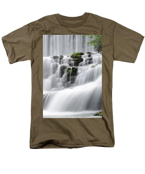 Cascading Mirror Lake Falls Men's T-Shirt  (Regular Fit) by Renee Hardison