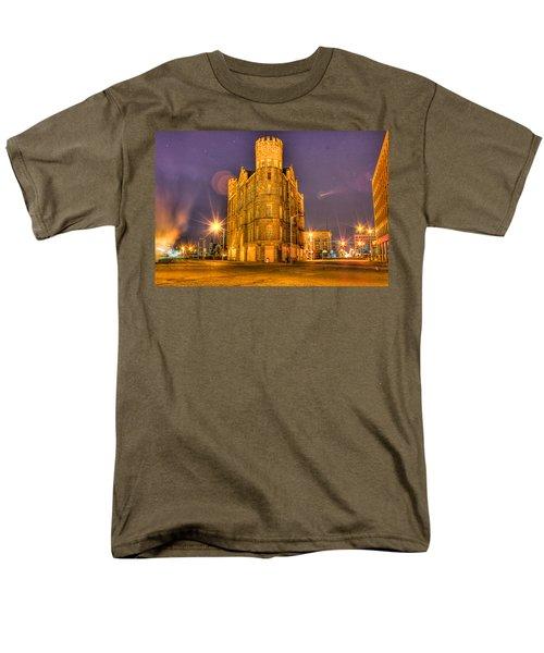Cass Castle Detroit Mi Men's T-Shirt  (Regular Fit) by Nicholas  Grunas