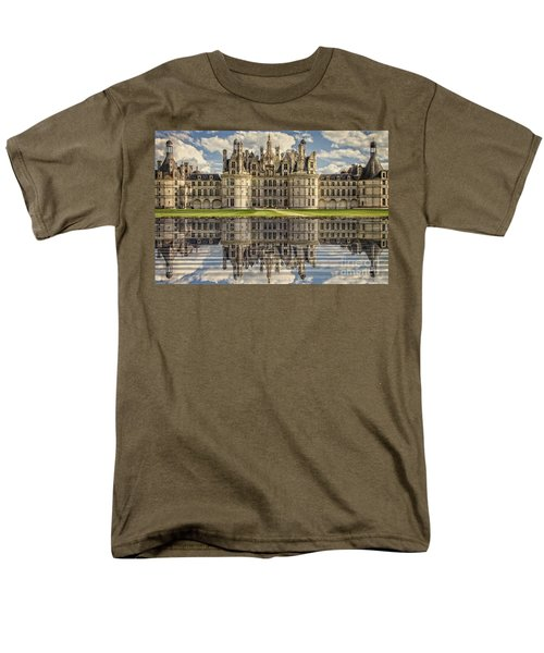 Men's T-Shirt  (Regular Fit) featuring the photograph Castle Chambord by Heiko Koehrer-Wagner