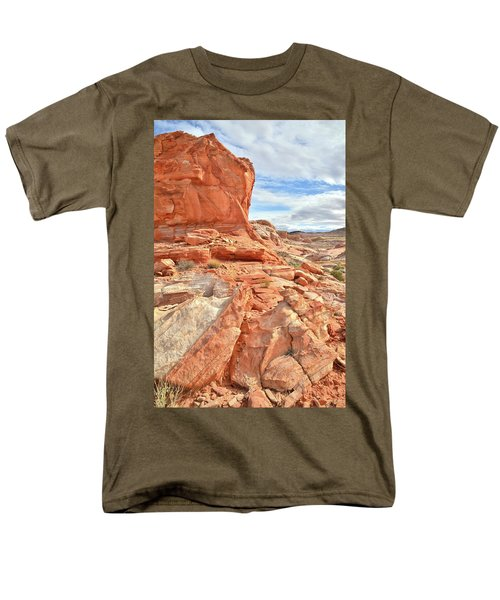 Castle High Above Wash 5 In Valley Of Fire Men's T-Shirt  (Regular Fit) by Ray Mathis