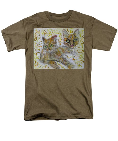Men's T-Shirt  (Regular Fit) featuring the painting Cat Named Phoenicia by AJ Brown