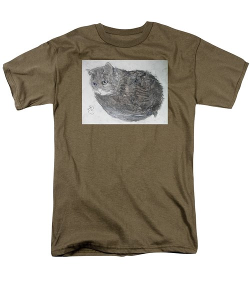 Men's T-Shirt  (Regular Fit) featuring the mixed media Cat Named Shrimp by AJ Brown
