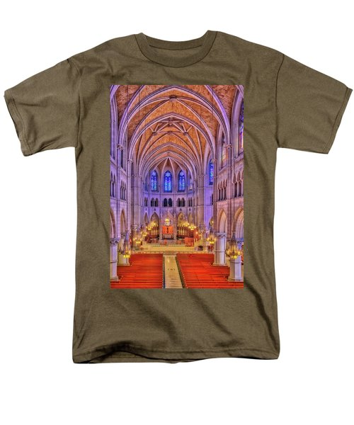 Men's T-Shirt  (Regular Fit) featuring the photograph Cathedral Basilica Of The Sacred Heart Newark Nj II by Susan Candelario