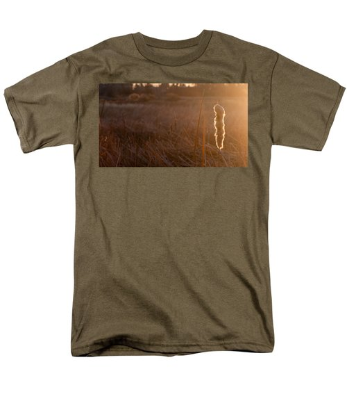 Men's T-Shirt  (Regular Fit) featuring the photograph Cattail At Sunrise by Monte Stevens