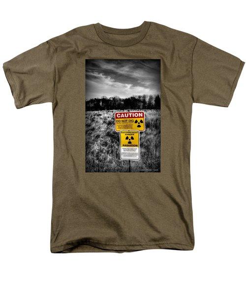 Caution Men's T-Shirt  (Regular Fit) by Michaela Preston