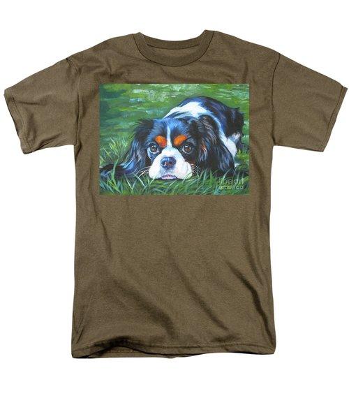 Cavalier King Charles Spaniel Tricolor Men's T-Shirt  (Regular Fit) by Lee Ann Shepard