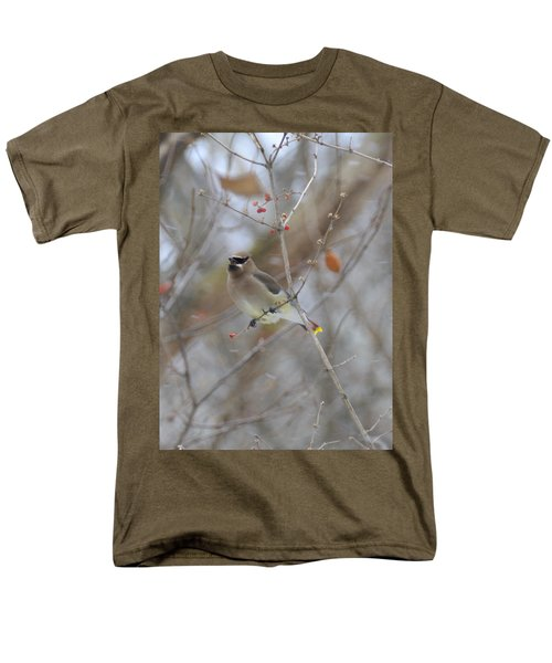 Cedar Wax Wing 2 Men's T-Shirt  (Regular Fit) by David Arment