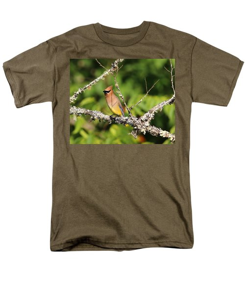 Cedar Waxwing  Men's T-Shirt  (Regular Fit) by Carol R Montoya