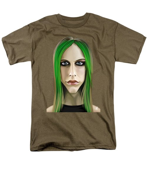 Men's T-Shirt  (Regular Fit) featuring the drawing Celebrity Sunday - Avril Lavigne by Rob Snow