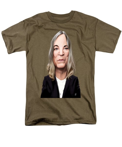 Men's T-Shirt  (Regular Fit) featuring the drawing Celebrity Sunday - Patti Smith by Rob Snow