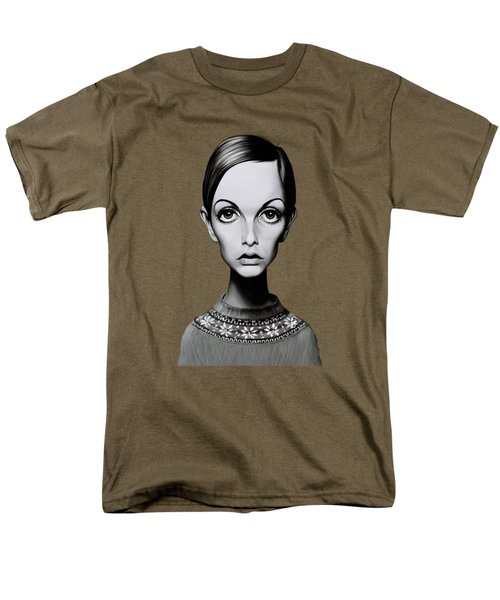 Celebrity Sunday - Twiggy Men's T-Shirt  (Regular Fit) by Rob Snow