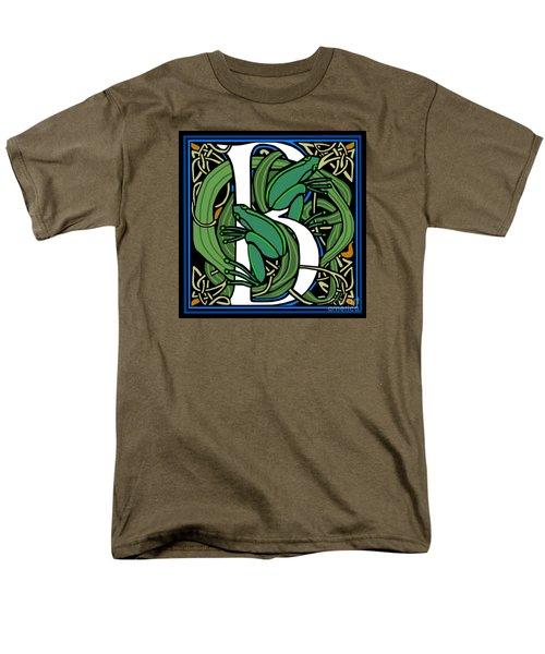 Celt Frogs Letter B Men's T-Shirt  (Regular Fit) by Donna Huntriss
