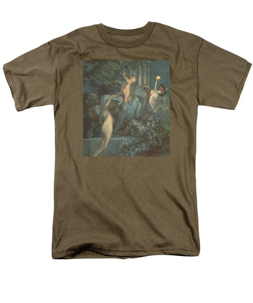 Centaur Nymphs And Cupid Men's T-Shirt  (Regular Fit) by Franz von Bayros