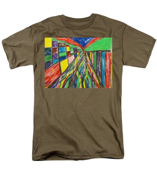 Men's T-Shirt  (Regular Fit) featuring the painting Central Hill - London Sw19 by Mudiama Kammoh