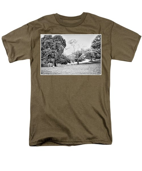 Men's T-Shirt  (Regular Fit) featuring the photograph Central Park In Black And White by Madeline Ellis