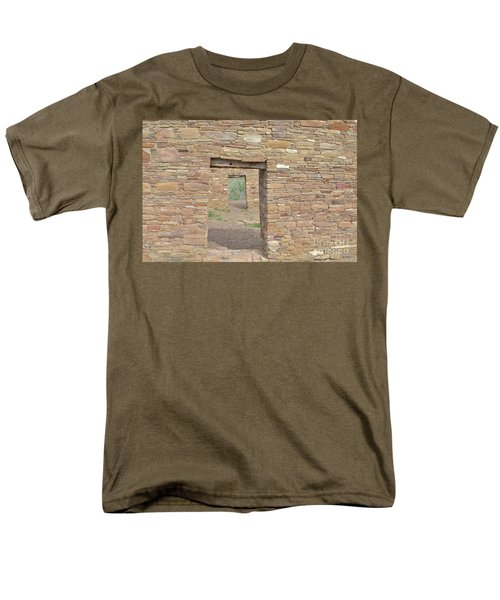 Men's T-Shirt  (Regular Fit) featuring the photograph Chaco Canyon Doors by Debby Pueschel