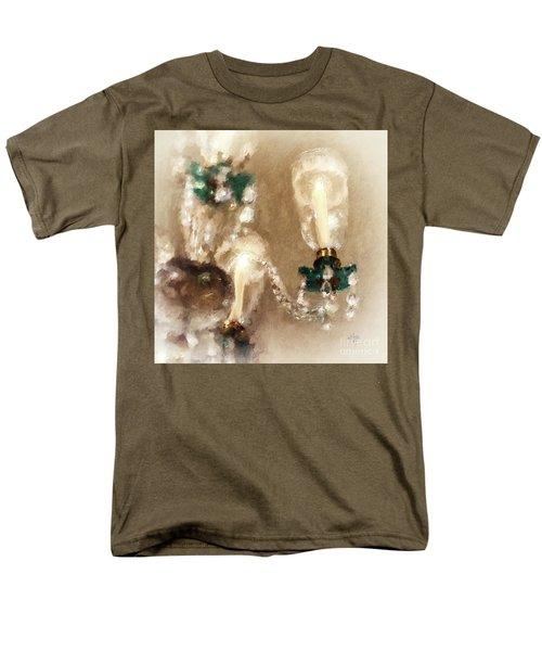 Men's T-Shirt  (Regular Fit) featuring the digital art Chandelier At Winterthur by Lois Bryan