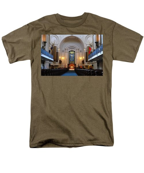 Chapel Interior - Us Naval Academy Men's T-Shirt  (Regular Fit) by Lou Ford